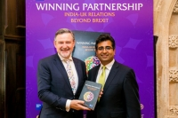 Manoj Ladwa with Barry Gardiner MP