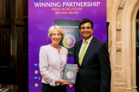Manoj ladwa with Rt Hon Patricia Hewitt