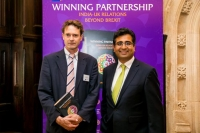 Manoj Ladwa with Dr Gareth Price