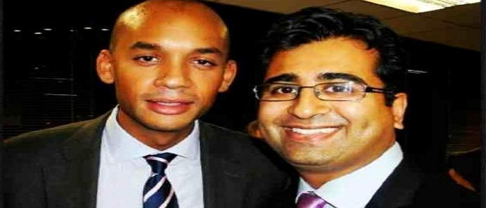 Manoj Ladwa with Labour Member of Parliament Chuka Umanna Manoj Ladwa with Chuka Umanna