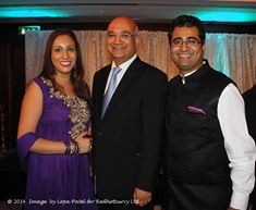 Manoj ladwa with Dina ladwa the labour party The Labour Party Diwali Reception 2014 diwali Ml