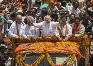 As Modi sounds the poll bugle for 2019, the gloom-mongers start to work overtime PM Narendra Modi at Varanasi campaign 300x215