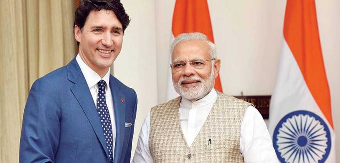 A Grizzly In The Room justin trudeau with Narendra modi 470 702x336
