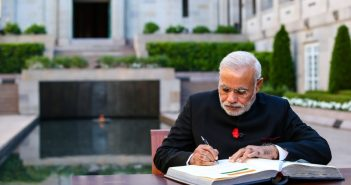Modi begins crucial reforms of India's bureaucracy Narendra Modi writing a book 351x185