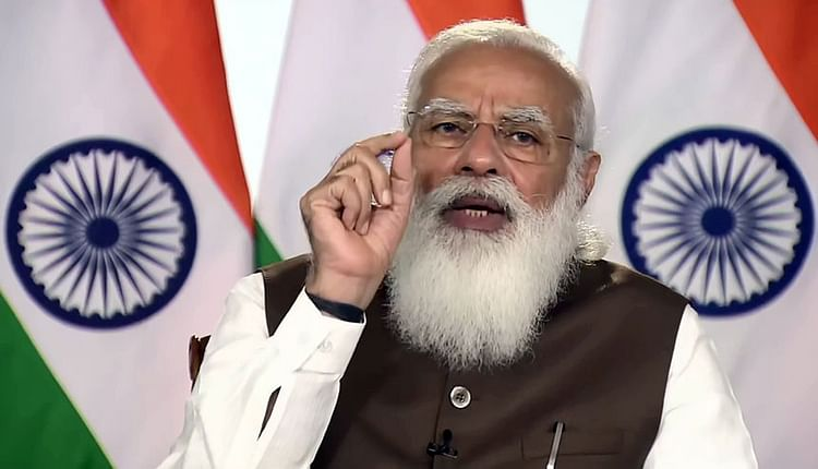 PM Modi invited US companies to invest in India last year outlining how Atmanirbhar Bharat will transform India from a passive market to an active manufacturing hub.Courtesy: ANI  A job to India is not a job lost in the US 11